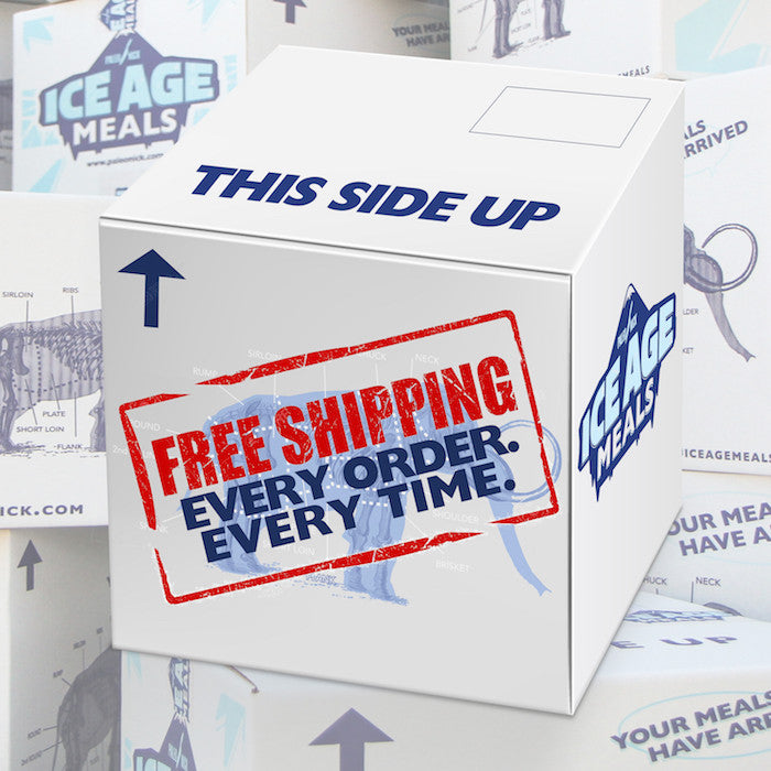Ice Age Meals Makes Shipping Free - On Every Order