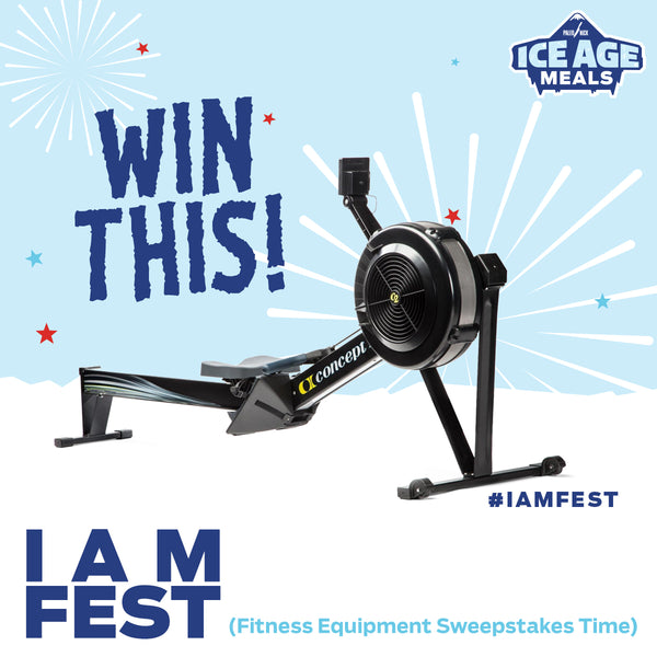 Win a Concept 2 Rower!!! Ice Age Meals Giveaway!
