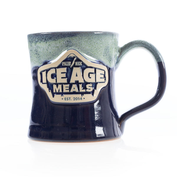 IAM Hand Crafted Diner Mug Midnight/Kiwi White - Paleo Meals and Paleo Samplers
