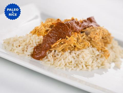 Chipotle Chicken Tinga and Rice (Box) - Paleo Meals and Paleo Samplers