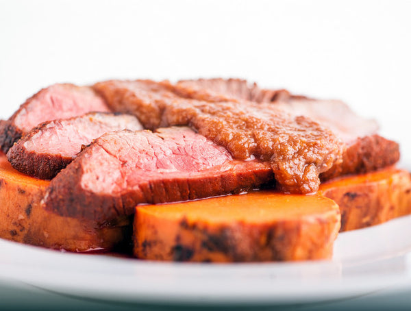 Grass Fed Tri-Tip with Yams