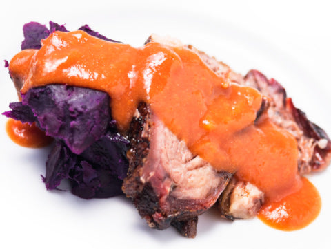 Smoked Brisket with Organic Purple Sweet Potato (Box) - Paleo Meals and Paleo Samplers