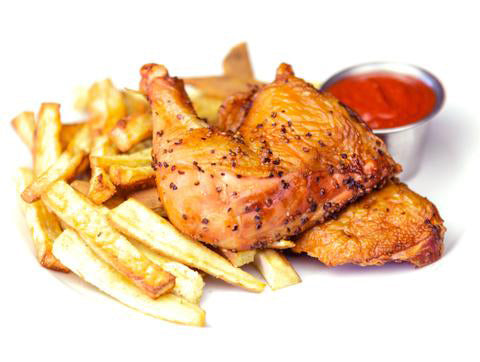 Smoked Chicken with Ga Ga Garlic Fries and Cave Ketchup (Box) - Paleo Meals and Paleo Samplers