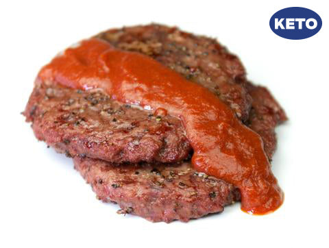 Smokehouse Burger with Cave Ketchup (Keto) (Box) - Paleo Meals and Paleo Samplers