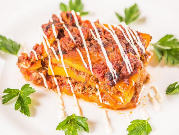 Butternut Squash Lasagna - Grass Fed Beef (Box) - Paleo Meals and Paleo Samplers