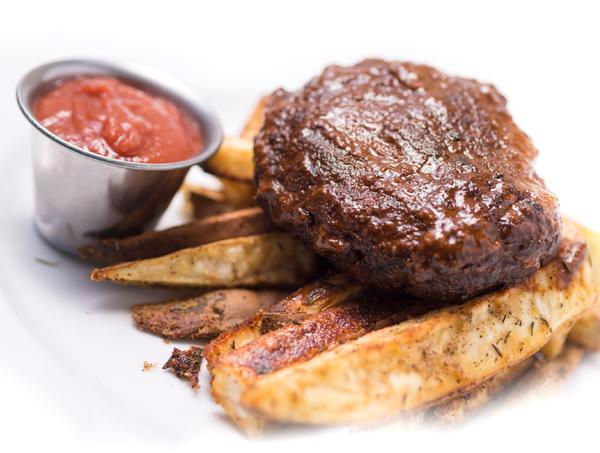 Smokehouse Burger with Ga Ga Garlic Fries and Cave Ketchup (Box) - Paleo Meals and Paleo Samplers