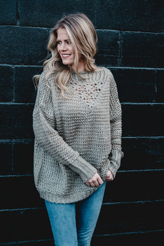 Spring Sage Slouchy Sweater