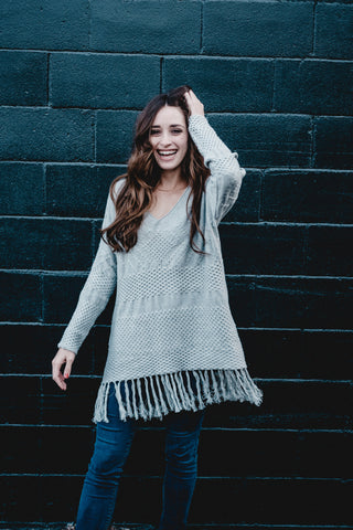 Fringe Knit Tunic