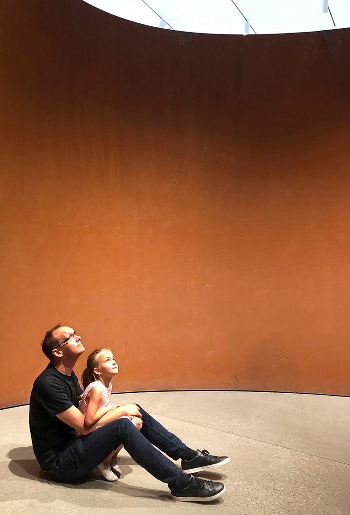 Clay Alexander, Founder and CEO of Ember, with daughter at LACMA
