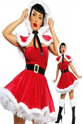 Santa Mrs Claus Christmas Fancy Dress Costume Elf Holidays