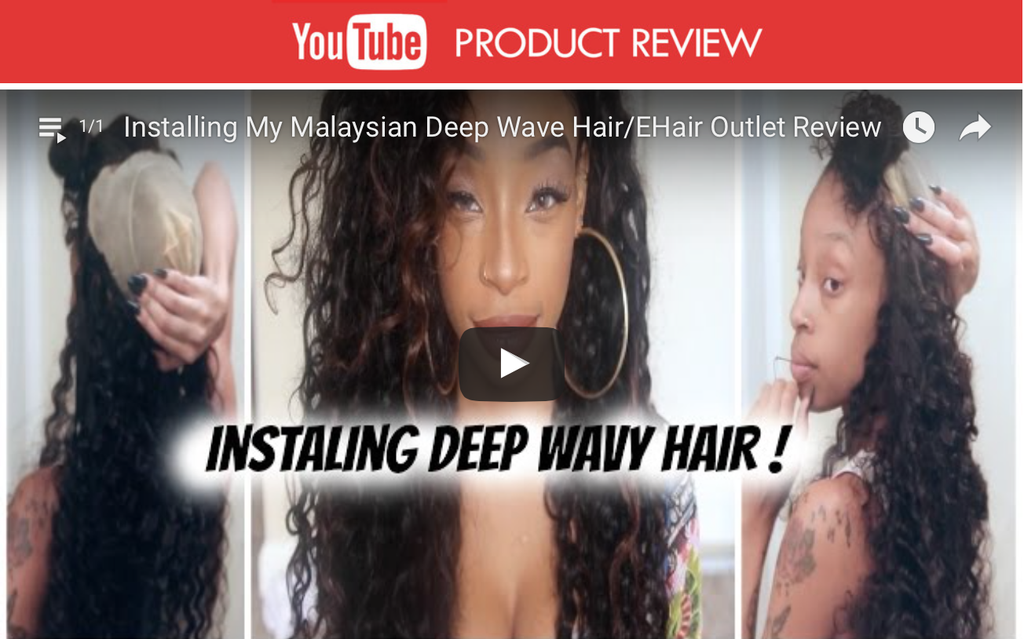 Product Review 8A Malaysian Deep Wave Human Hair Extension