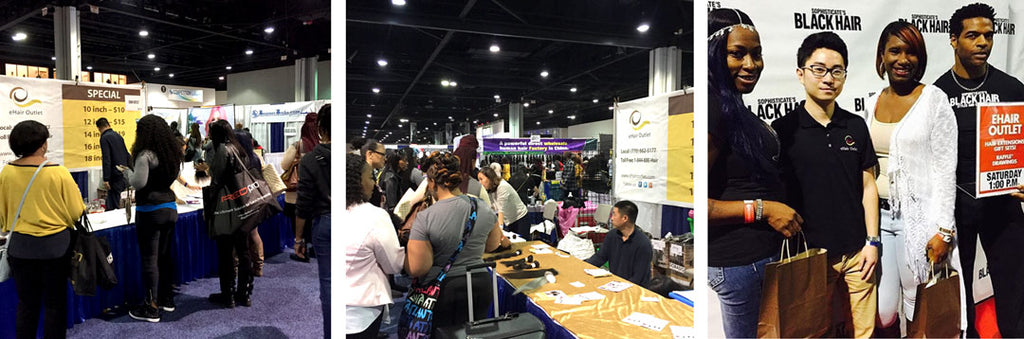 eHair Outlet exhibits at the 2016 Bronners Bros Beauty Show