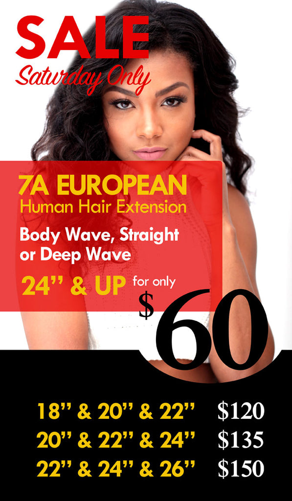 One day only sale. This Saturday Nov-12. Save big on 100% human hair bundles | eHair Outlet