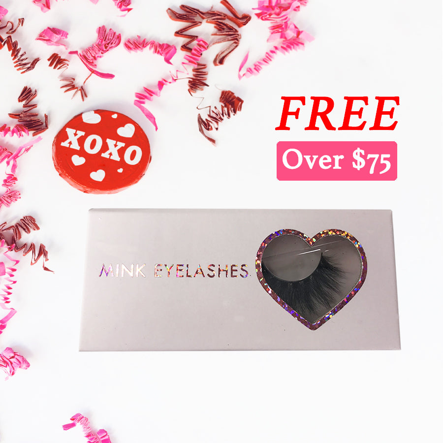 Free 3D Mink Eyelash for Valentine's Day Over$75 - eHair Outlet