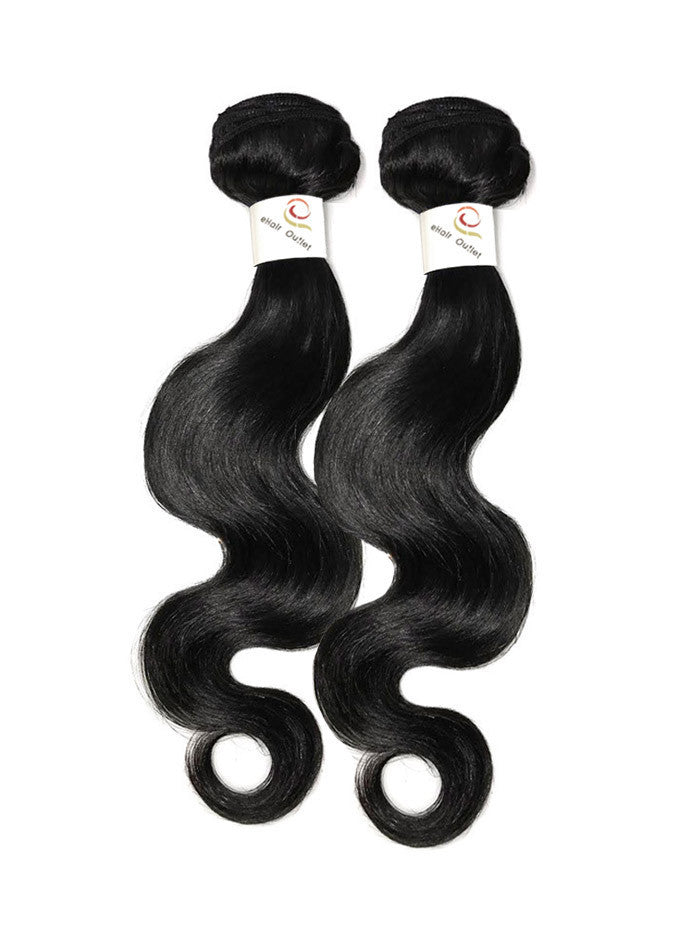 5A Brazilian 2 Bundle Body Wave Virgin Human Hair w/ 360 Lace Frontal-eHair Outlet