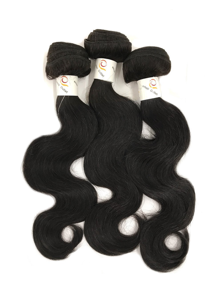 5A Brazilian 3 Bundle Set Body Wave Virgin Human Hair Extension 300g - eHair Outlet