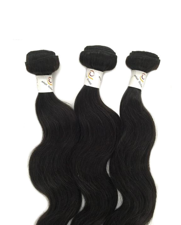 6A Indian 3 Bundle Set Body Wave Virgin Human Hair Extension 300g - eHair Outlet