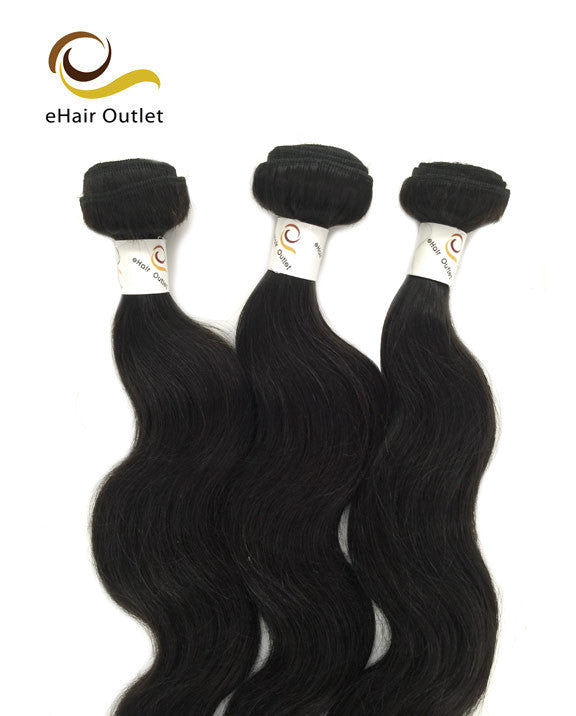 6A Indian 3 Bundle Set Body Wave Virgin Human Hair Extension 300g-eHair Outlet