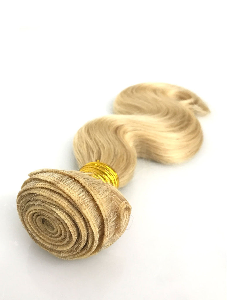 9A Malaysian Body Wave Human Hair Extension Platinum Blonde - eHair Outlet