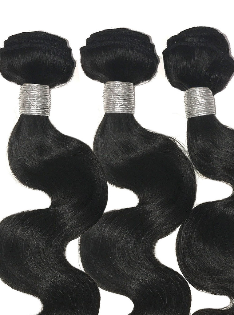 9A Premium 3 Bundle Set Body Wave Raw Virgin Human Hair Extension 300g - eHair Outlet