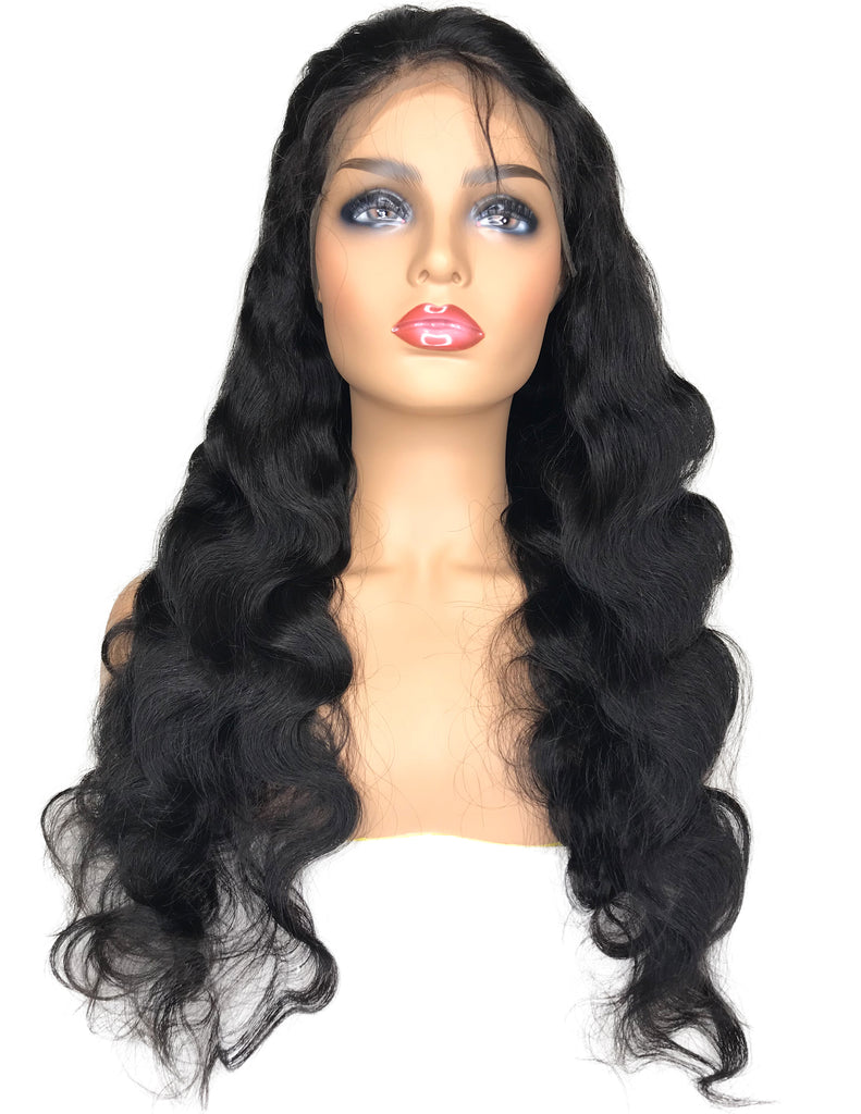 "30"" Virgin Malaysian Body Wave Swiss Full Lace Human Hair Wig - eHair Outlet"