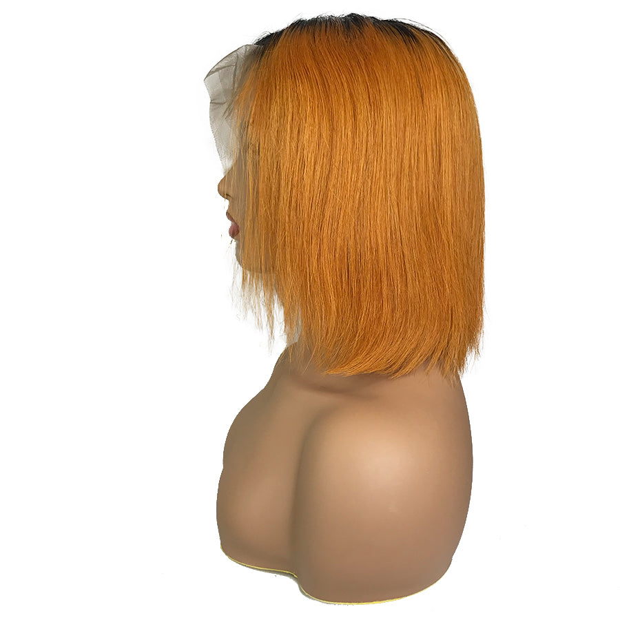"Remy Straight 13""X 6""Lace Frontal Bob Wig Orange - eHair Outlet"