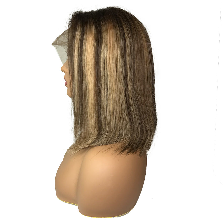 "Remy Straight 13""X 6""Lace Frontal Bob Wig  #4/27/4 - eHair Outlet"