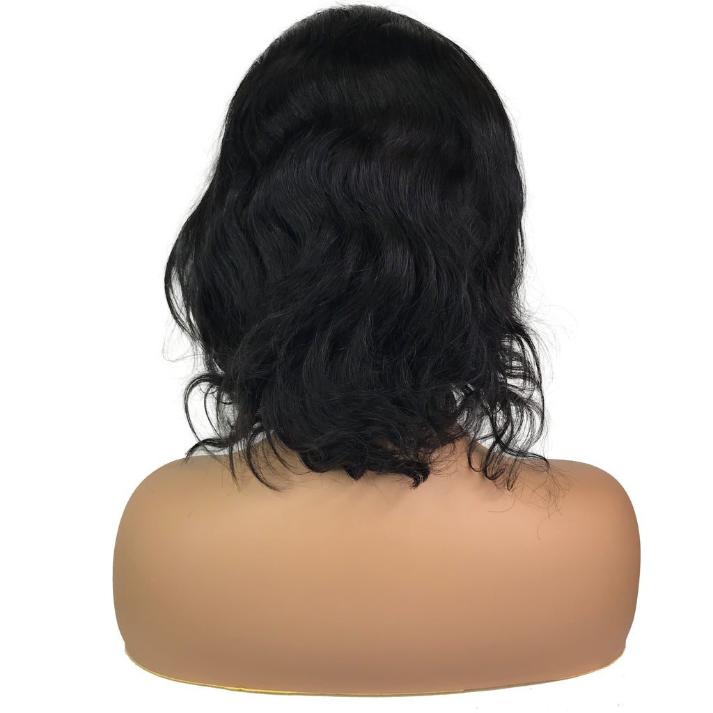 "Remy Body Wave 13""X 4""Lace Frontal Bob Wig  Natural - eHair Outlet"