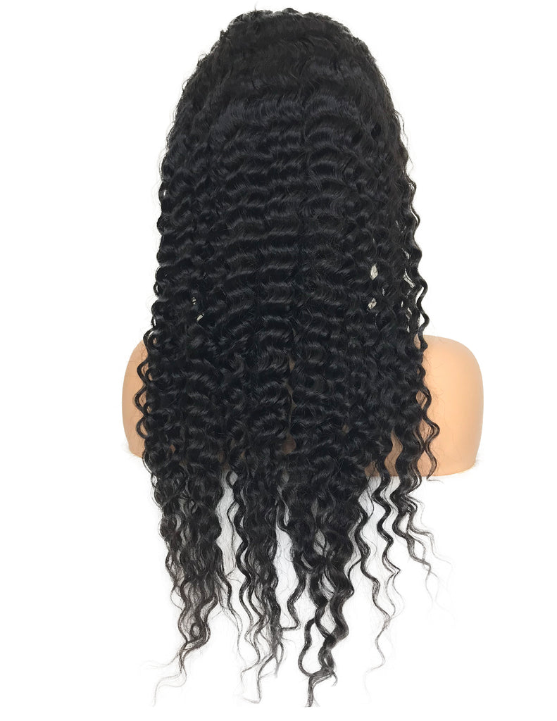 8A Malaysian Deep Wave Lace Frontal Human Hair Wig
