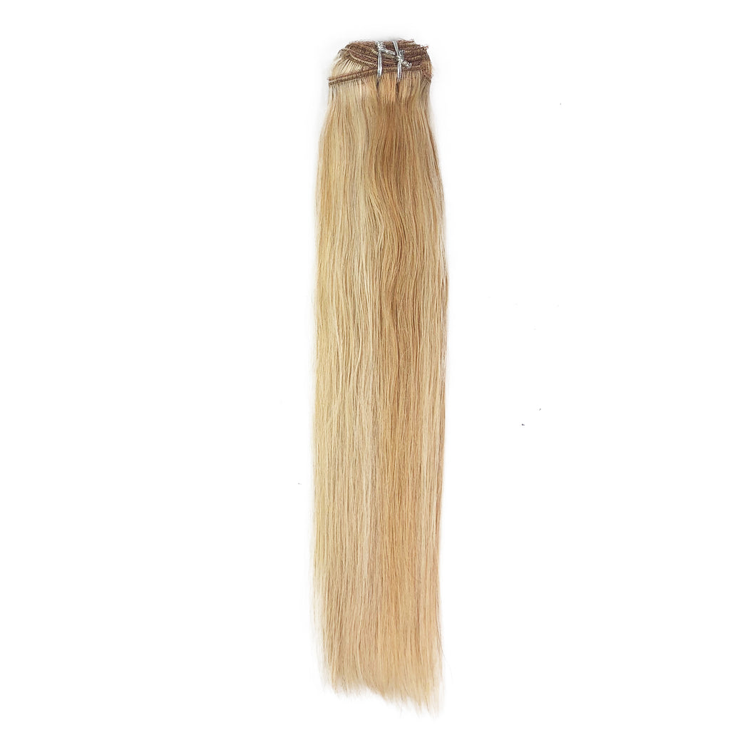 8A Straight Clip-In Human Hair Extension Color F27/613 - eHair Outlet