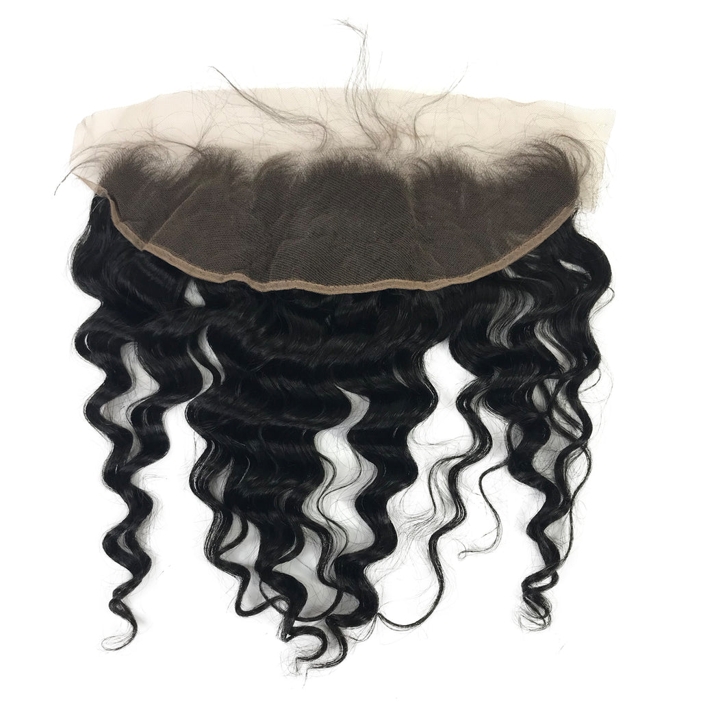"Virgin 13""x4"" Loose Wave Lace Frontal - eHair Outlet"