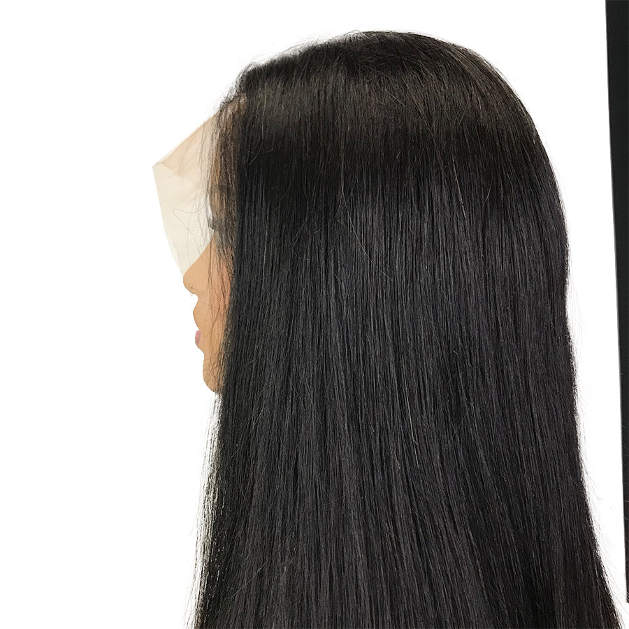 HD 8A Malaysian Straight Lace Frontal Human Hair Wig - eHair Outlet