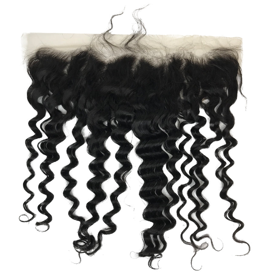 "HD Transparent Remy 13""x4"" Deep Wave Lace Frontal - eHair Outlet"