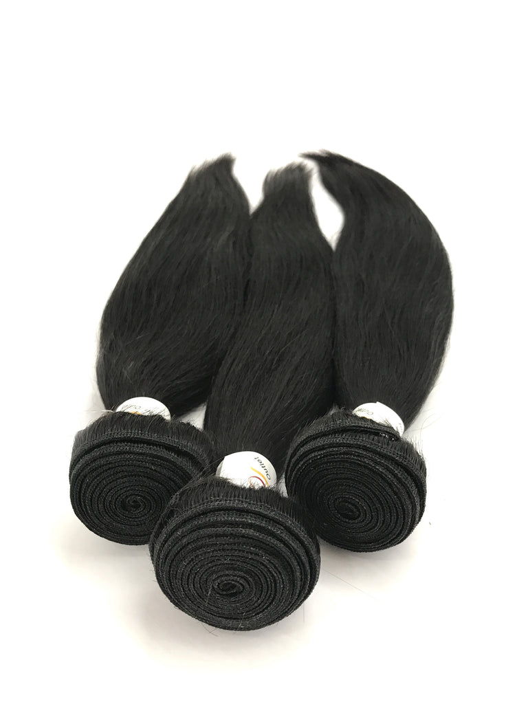 6A Indian 3 Bundle Set Straight Virgin Human Hair Extension 300g - eHair Outlet