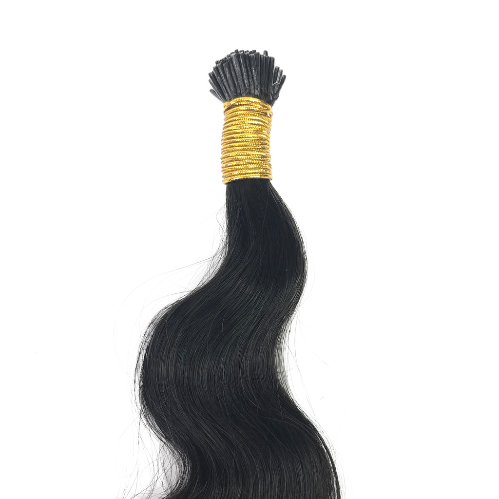 9A Malaysian I-Tip Body Wave Human Hair Extension Natural