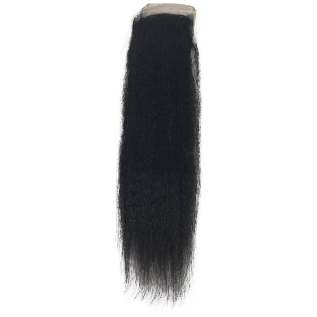 "Virgin Kinky Straight Lace Closure 4""x4"""