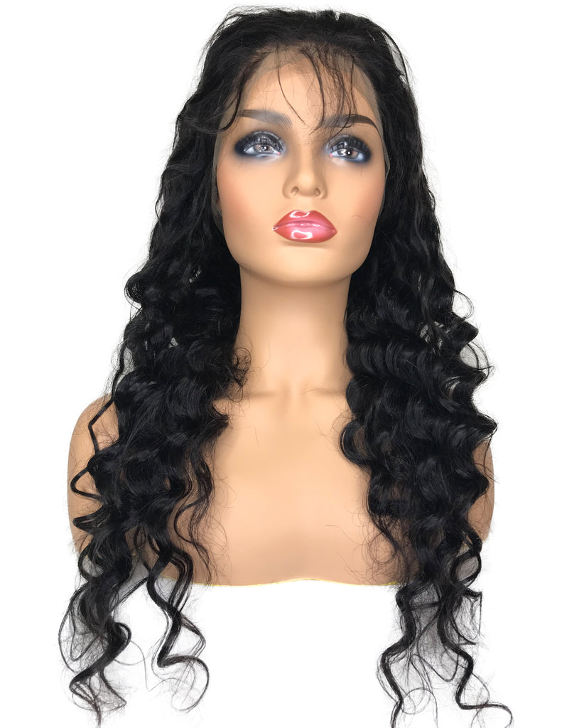 8A Malaysian Loose Wave 360 Lace Human Hair Wig - eHair Outlet