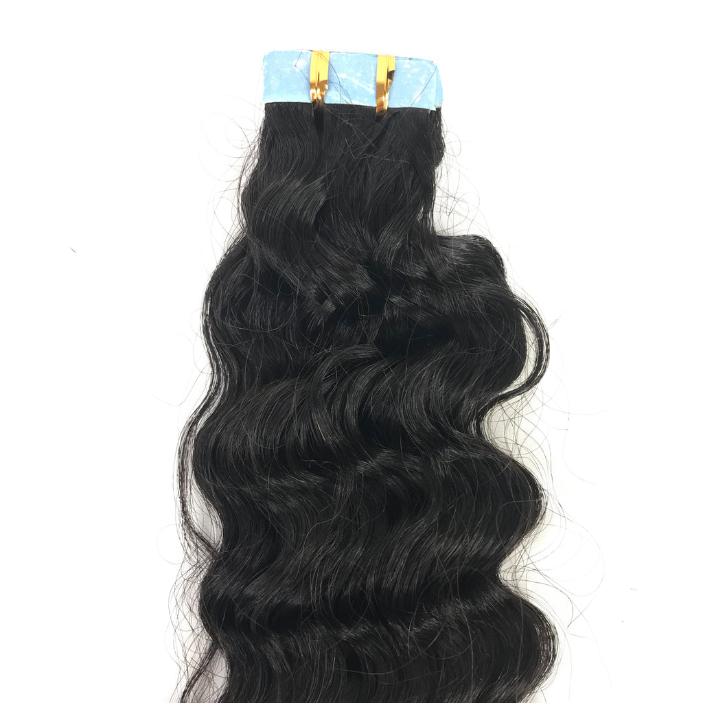 9A Deep Wave Tape-In Human Hair Extension Natural - eHair Outlet