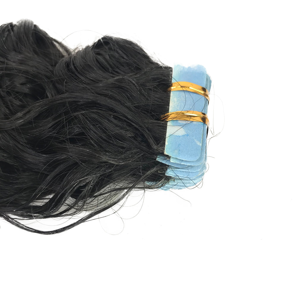 9A Water Wave Tape-In Human Hair Extension Natural - eHair Outlet