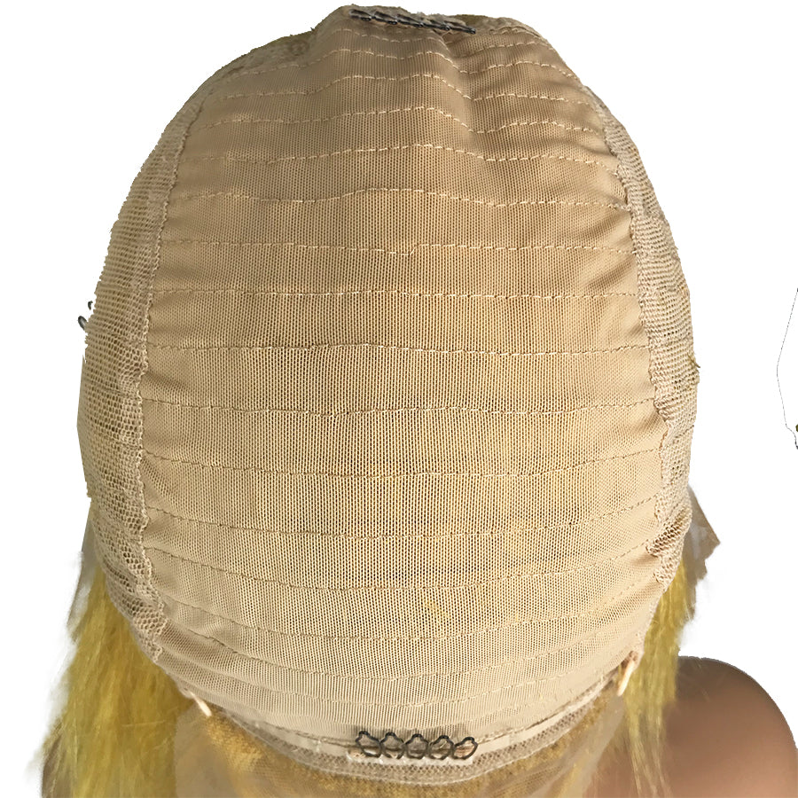 "Remy Straight 13""X 6""Lace Frontal Bob Wig Yellow - eHair Outlet"
