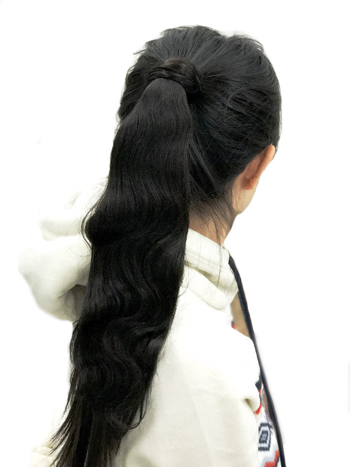 8A Malaysian Ponytail Clip-In Body Wave Remy Human Hair Extension - ehair outlet - 3