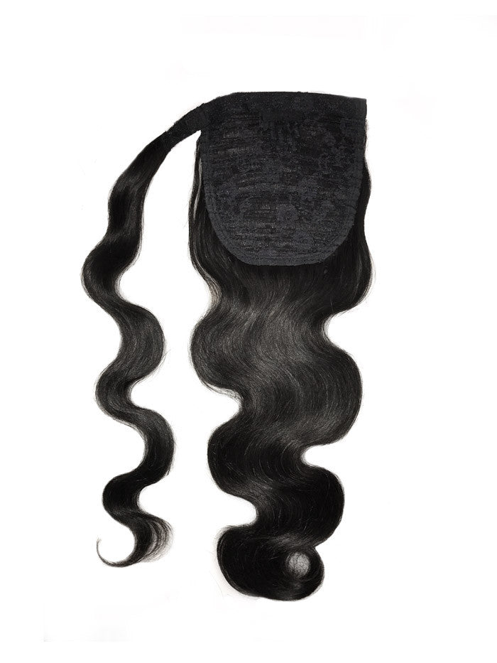 8a Malaysian Ponytail Clip In Body Wave Remy Human Hair Extension