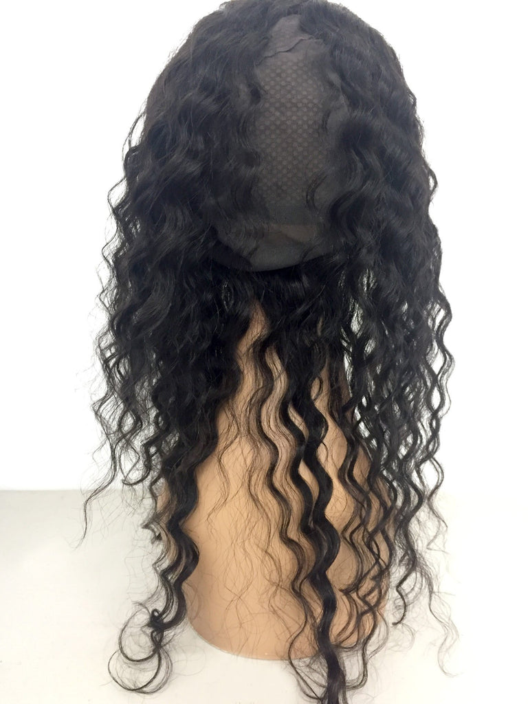 360 Remy Lace Frontal w/ Cap Deep Wave Human Hair-eHair Outlet