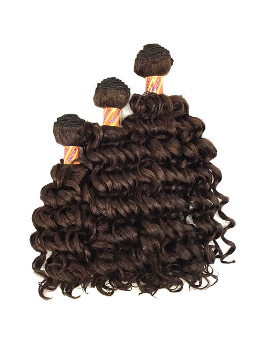 Judy Deep Wave 3 Bundle Set Synthetic Hair Extension Color 33 - eHair Outlet