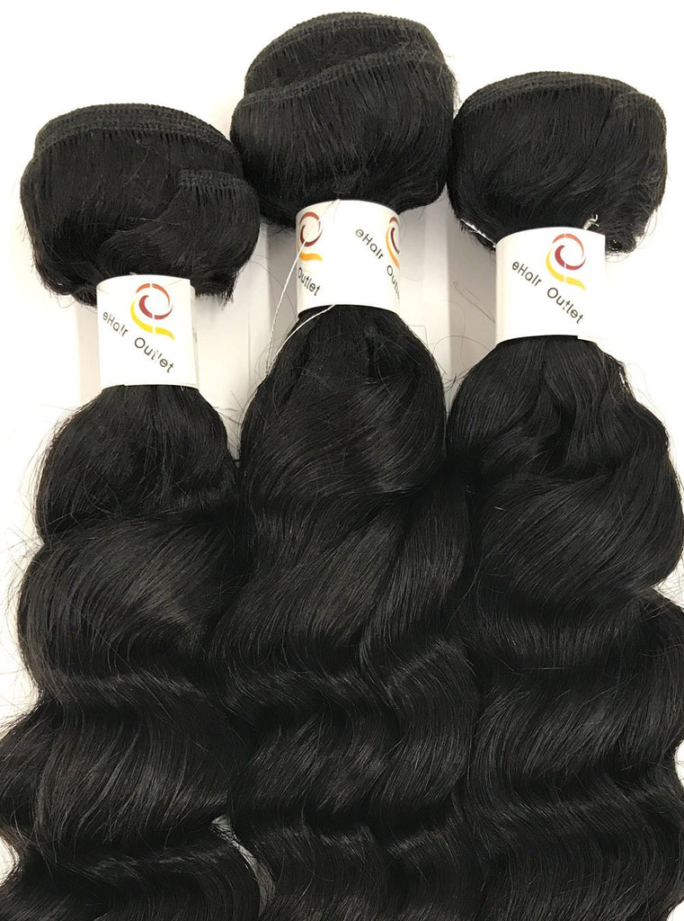 8A Malaysian 3 Bundle Set Sea Wave Virgin Human Hair Extension 300g - eHair Outlet