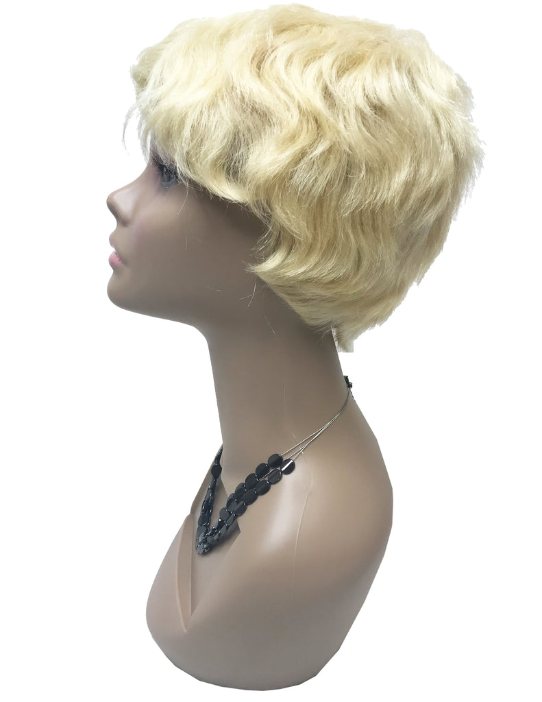 8A MALAYSIAN REMY HUMAN HAIR 613 SHORT WIG - eHair Outlet