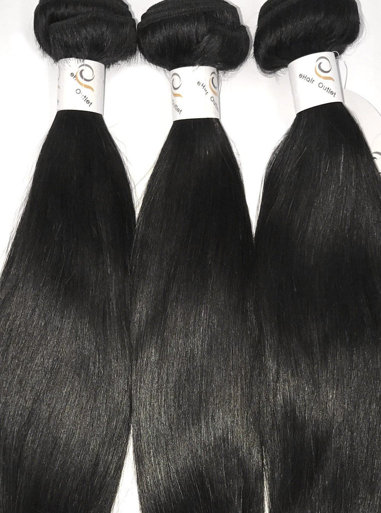 8A Malaysian 3 Bundle Set Straight Virgin Human Hair Extension 300g - eHair Outlet
