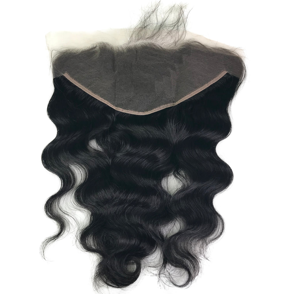 "Virgin 13""x4"" Body Wave Transparent Lace Frontal - eHair Outlet"