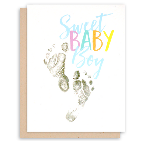 Baby Boy Congratulations Card - New Baby