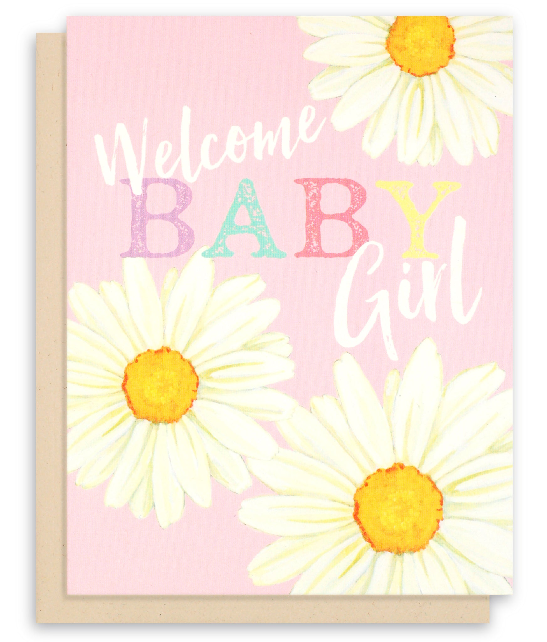 New Baby Girl Congratulations Card